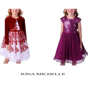 Jona Michelle Girls Holiday Formal Party Dress NWT